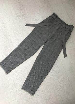 Клетчатые брюки zara