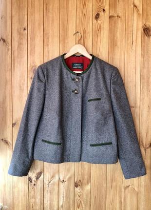 Жакет h.moser серый пиджак баварский тирольский винтаж костюм традиционный октоберфест