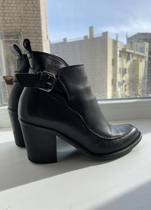 Ботинки бот льоны кожаные zara