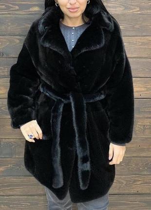 Шуба из норки saga furs
