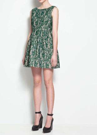 Zara зеленое короткое платье