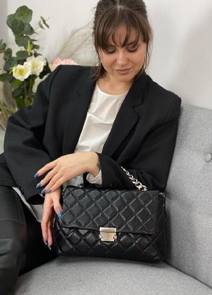 Стильна шкірчна сумочка із цепочкою