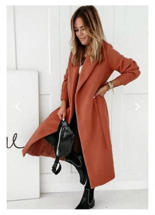 Женское пальто на подкладке7 фото