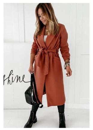 Женское пальто на подкладке10 фото