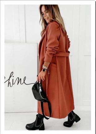 Женское пальто на подкладке9 фото