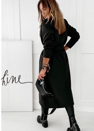 Женское пальто на подкладке4 фото