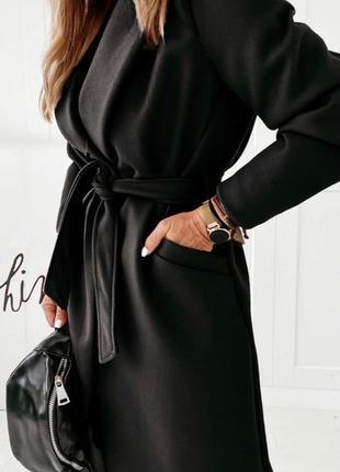 Женское пальто на подкладке5 фото