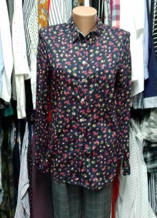 Блуза в квіточки.  натуральна тканина