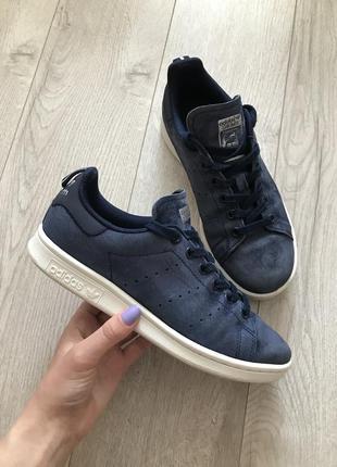 Бархатные велюровые кроссовки adidas stan smith