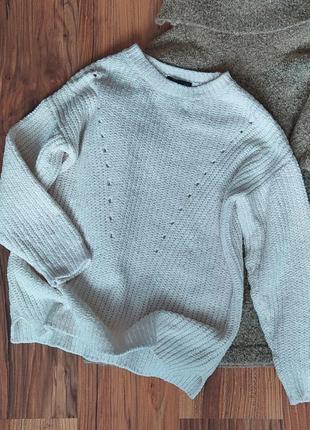 Базовый белый свитерок свитер knitwear by f&f м s молочный приятный к телу