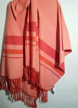 Стильный палантин шарф 170 на 90см с бахромой &other stories, большой шарф, котон 100%