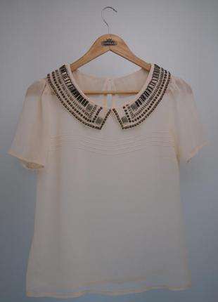 Прозрачная блуза-рубашка в школу/ на работу