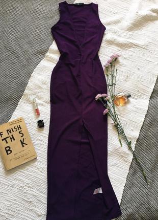 Платье в пол, плаття з глибоким декольте