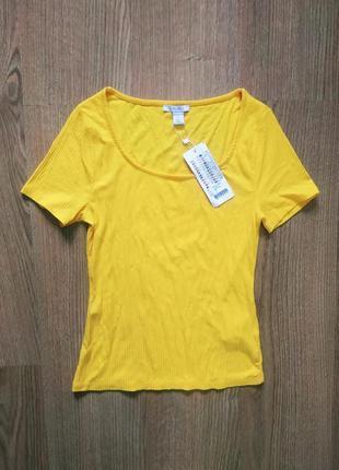 Новая ярко жёлтая майка блуза amisu размер s