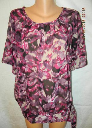 Красивая шифоновая блуза большого размера