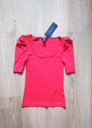 Новая ярко красная майка блуза amisu размер s