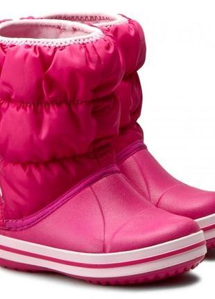 Детские сапоги crocs winter puff boot, 100% оригинал