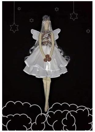 Интерьерная кукла тильда белый ангел