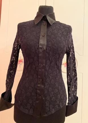 Красивая гипюровая блуза р. м турция