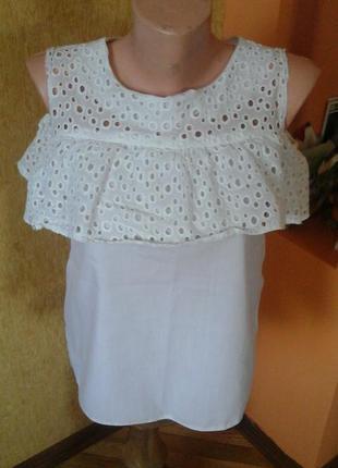 Белая блуза фирмы elegance