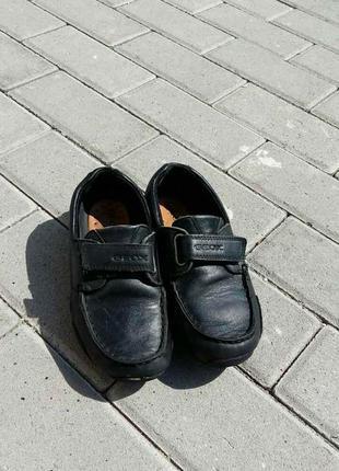 Geox, макасіни туфли шкіра чорні кожа
