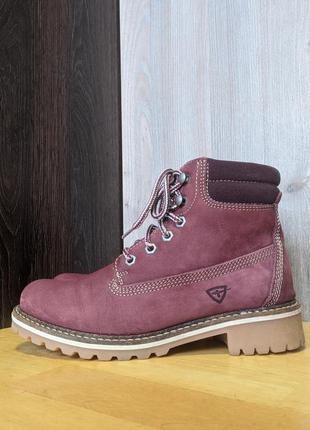 Ботинки кожаные tamaris