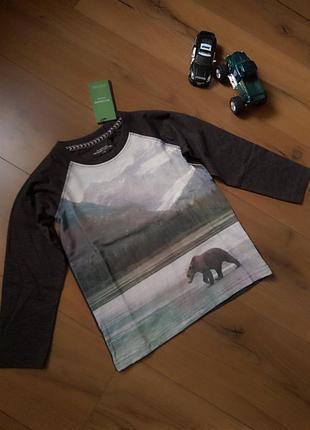 Лонгслив (кофта) reserved с красивейшим принтом для мальчика 5-6 лет, 8-9 лет, 10-11 лет