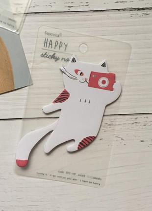 Стикеры бумага для записей кот фотограф