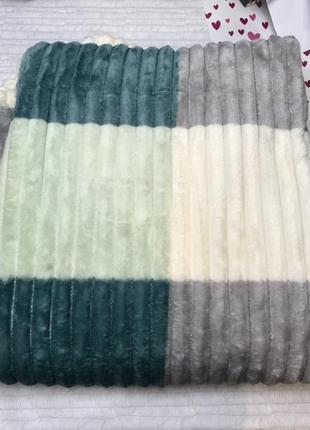 Плед шарпей полоска полуторка 150 на 200 в квадрат