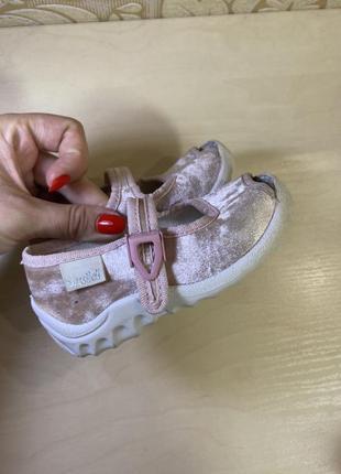 Туфельки кожа+текстиль 21 р
