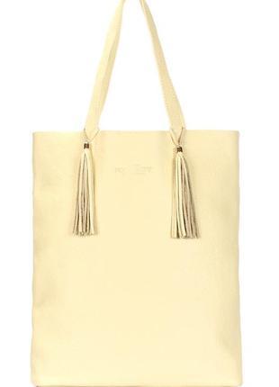 Жёлтая кожаная сумка poolparty