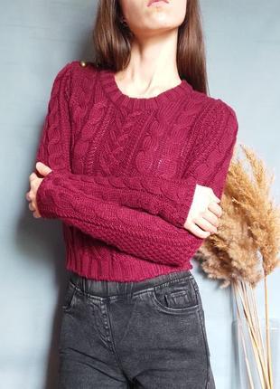 Укороченный свитер, кофта