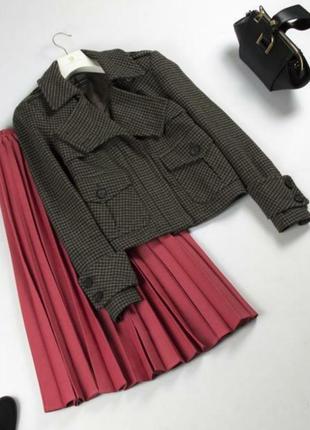 Шерстяной жакет пиджак пальто zara