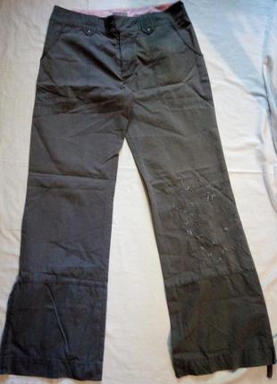 Брюки соттон+нейлон (плащевка) на бедра 94-96 с вышивкой