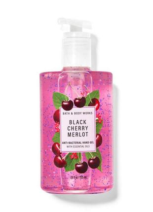 Парфюмированный санитайзер для рук bath and body works black cherry merlot 225 мл