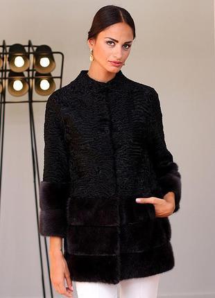 Пальто! изумительная вещь! эксклюзив! италия! финская норка и персидская каракульча!