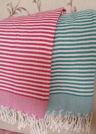 Набор полосатых полотенец подстилка на пляж
