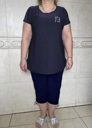Женский летний костюм,блуза +капри