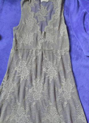 Тонкое кружевное платье туника saint tropes