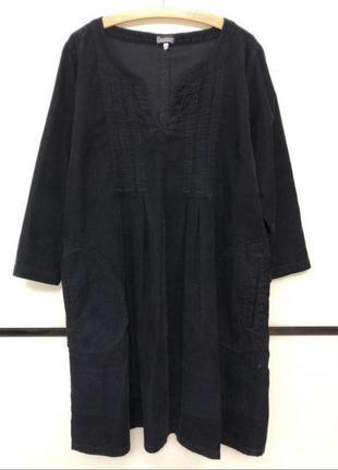 Стильное платье микро вельвет, свободный крой