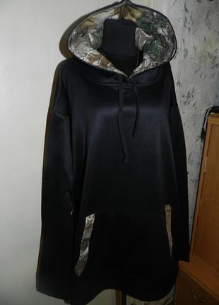 Худи-кенгурушка с капюшоном и карманом,большого размера,унисекс