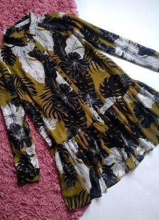 Платье-рубашка с оборкой 🌿
