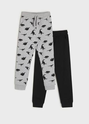 Новый набор штанов на весну с тонким начесом, штаны, джоггеры с динозаврами
