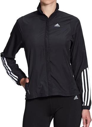 Adidas спортивная кофта для тренировок женская от адидас чёрная на замке беговая куртка