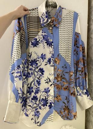 Сатиновая рубашка в стиле zara