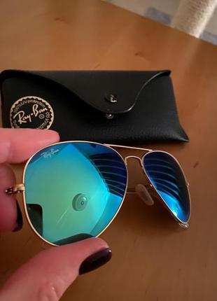 Женские солнцезащитные очки  ray-ban aviator