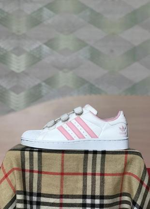 Кроссовки adidas superstar розовые на липучках