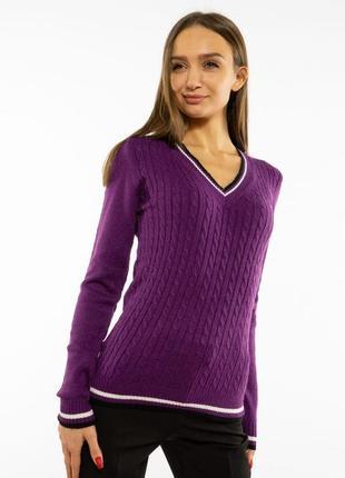 Пуловер женский с v-образным вырезом 618f402