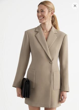 Мини-платье пиджак песочные часы