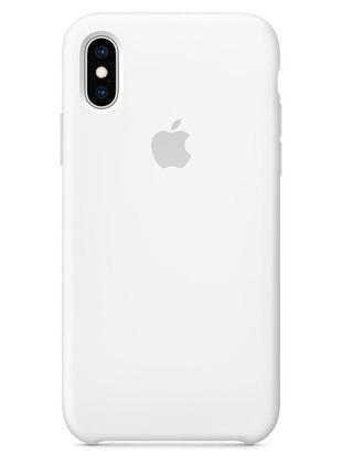 Чехол для iphone xs apple silicone case (white)